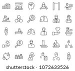 thin line icon set  ... | Shutterstock .eps vector #1072633526
