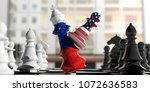 usa and russia relations. us... | Shutterstock . vector #1072636583