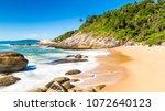 Balneario Camboriu, Santa Catarina, Brazil. Estaleirinho Beach. Beach in the southern region of Brazil.