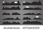 mountains silhouettes on the... | Shutterstock .eps vector #1072641053