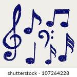 Vector Musical Notes. Sketch
