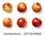 apples isolated on white... | Shutterstock . vector #1072644860