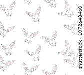 bunny animal pattern in vector   Shutterstock .eps vector #1072648460