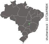 brazil map vector outline... | Shutterstock .eps vector #1072649804