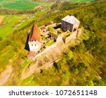 aerial view of tocnik castle. a ... | Shutterstock . vector #1072651148