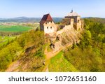 aerial view of tocnik castle. a ... | Shutterstock . vector #1072651160