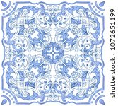 azulejos portuguese watercolor...   Shutterstock .eps vector #1072651199