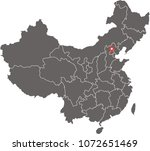 china map vector outline... | Shutterstock .eps vector #1072651469