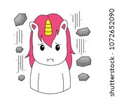 unicorn expression was... | Shutterstock .eps vector #1072652090