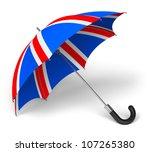 Umbrella With British Flag...