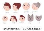 vector set of illustration of... | Shutterstock .eps vector #1072655066