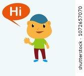 cute boy character saying  cute ... | Shutterstock .eps vector #1072657070