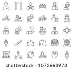 thin line icon set   business... | Shutterstock .eps vector #1072663973
