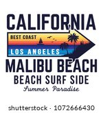 california surf typography for... | Shutterstock .eps vector #1072666430