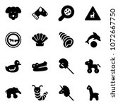 solid vector icon set   dog...   Shutterstock .eps vector #1072667750