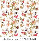 pattern flowers vintage | Shutterstock . vector #1072671470