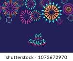 celebrate vector background... | Shutterstock .eps vector #1072672970