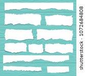 scrap paper on wooden... | Shutterstock .eps vector #1072684808