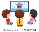 vector illustration of kid... | Shutterstock .eps vector #1072686920