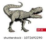 tyrannosaurus rex or t rex... | Shutterstock .eps vector #1072692290