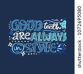 hand drawn lettering with... | Shutterstock .eps vector #1072695080