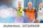 digital composite of people... | Shutterstock . vector #1072696658