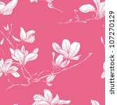 Seamless Magnolia Flower...