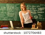 e learning concept with student ... | Shutterstock . vector #1072706483