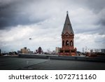 view on berlin from a building... | Shutterstock . vector #1072711160