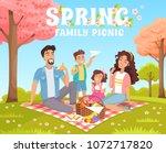 family picnic in the park....   Shutterstock .eps vector #1072717820