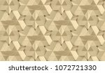 gold leather 3d tiles with... | Shutterstock . vector #1072721330