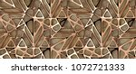 3d Red Gold Lattice Tiles On...