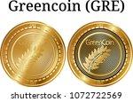 set of physical golden coin...   Shutterstock .eps vector #1072722569