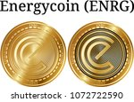 set of physical golden coin...   Shutterstock .eps vector #1072722590