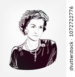gabrielle chanel coco vector... | Shutterstock .eps vector #1072722776