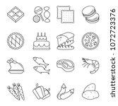 vector food  icons set  line ... | Shutterstock .eps vector #1072723376
