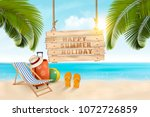 summer vacation concept... | Shutterstock .eps vector #1072726859