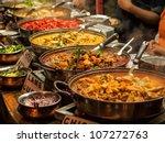 oriental food   indian takeaway ... | Shutterstock . vector #107272763