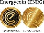 set of physical golden coin...   Shutterstock .eps vector #1072733426