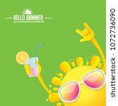 hello summer rock n roll vector ... | Shutterstock .eps vector #1072736090
