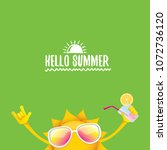 hello summer rock n roll vector ... | Shutterstock .eps vector #1072736120