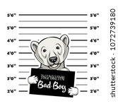 polar bears prisoner. bear... | Shutterstock .eps vector #1072739180