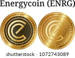 set of physical golden coin... | Shutterstock .eps vector #1072743089
