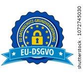 eu dsgvo label illustration | Shutterstock .eps vector #1072745030