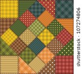 patchwork background with... | Shutterstock . vector #107274806