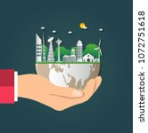 the world in your hands ecology ... | Shutterstock .eps vector #1072751618