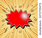 blank text comic black speech... | Shutterstock .eps vector #1072755473