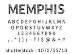 pop art memphis style font for... | Shutterstock . vector #1072755713