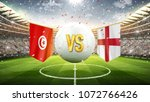 tunisia vs england. soccer... | Shutterstock . vector #1072766426