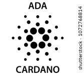 cardano cryptocurrency... | Shutterstock .eps vector #1072768814
